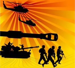 Keuken foto achterwand Militair army offensive