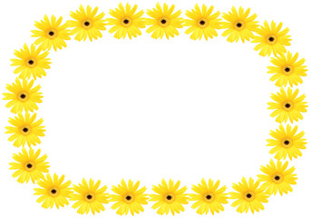 frame of gerbera