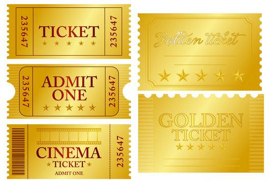 Various ticket set