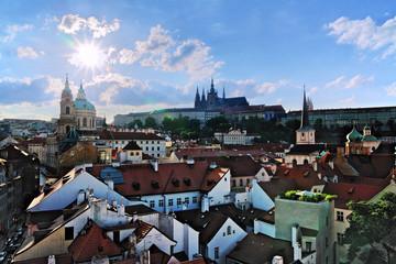View of Prague Castle and Mala Strana, Czech Republic