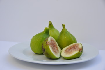 Figs isolated in a white background