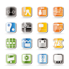 Simple Business and Internet Icons - Vector Icon Set