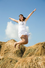 Jumping  country girl