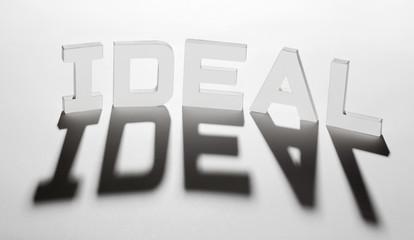 concept mot idéal ideal ombre et lumière