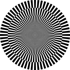 Tuinposter Psychedelic optische Illusion, rund