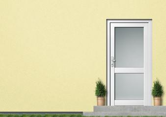 Illustration Hauseingang gelb