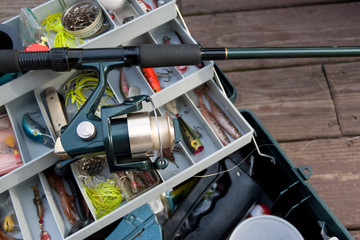 Fishing Rod and Tackle Box