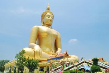 Big buddha meditation in Thailand