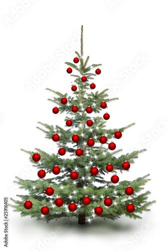weihnachtsbaum mit roten kugeln stockfotos und lizenzfreie bilder auf bild 25916405. Black Bedroom Furniture Sets. Home Design Ideas