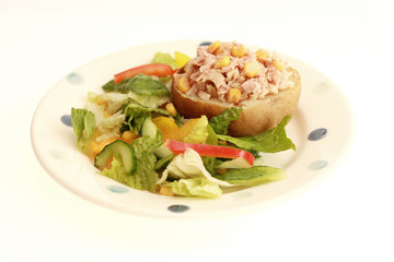 Jacket Potato with Tuna and Sweetcorn