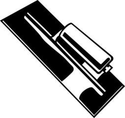 Trowel Vinyl Ready Vector Illustration