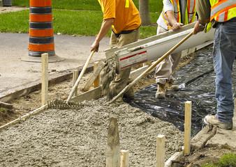 Sidewalk under construction