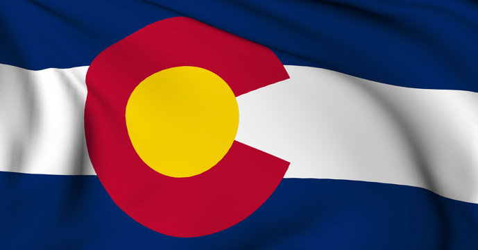 Colorado flag - USA state flags collection