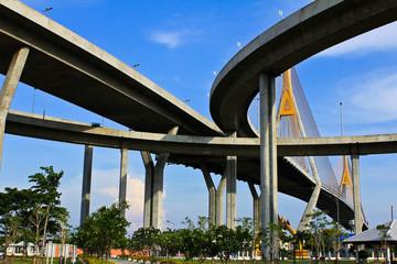Industrial Circle Bridge in Bangkok, Thailand