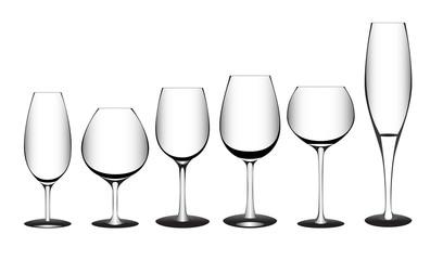 Glasses vector illustration.