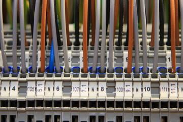 Stromkabel in Verteilung