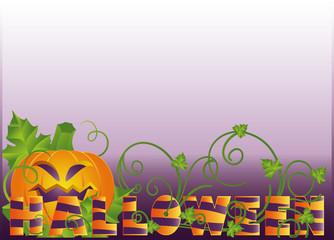 Halloween banner, vector
