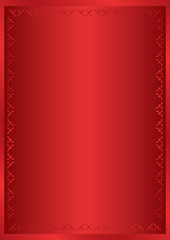 red  vector frame with vertical gradient