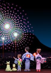 花火大会夏祭り