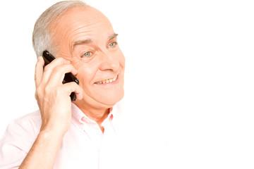 Grandfather on phone