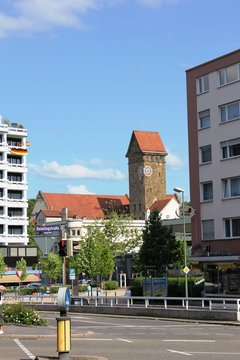 Pforzheim - Blick auf das alte Emma-Jäger-Bad
