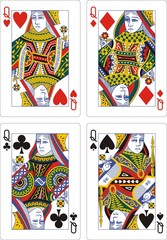 playing cards classic queen 62x90 mm