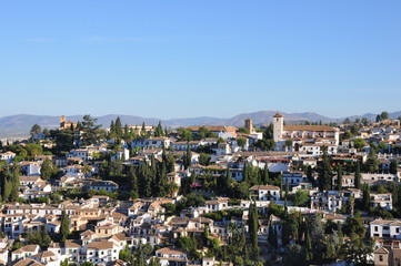 Grenade depuis l'Alhambra - Andalousie - Espagne