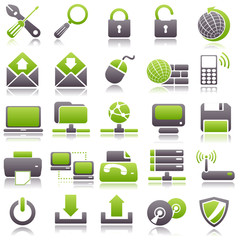 computer Green Icons
