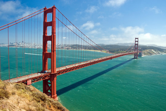 The Golden Bridge in San Francisco