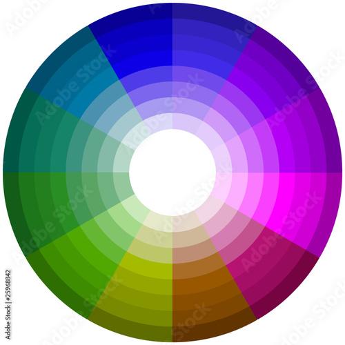 Roue chromatique et harmonies de couleurs photo libre de - Roue chromatique des couleurs ...