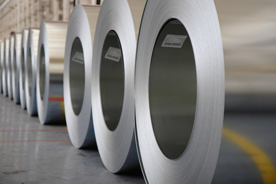 The production of zinc-coated steel mill