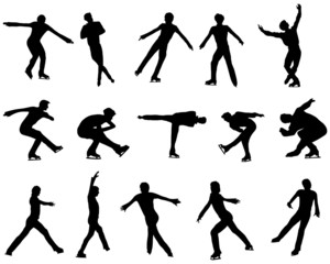figure skating silhouette set