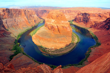 Wall Mural - Horseshoe bend of Colorado river in Page Arizona
