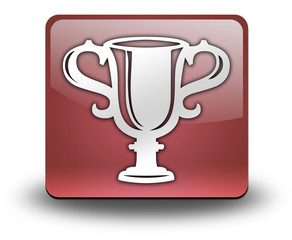 "Red 3D Effect Icon ""Award Cup"""