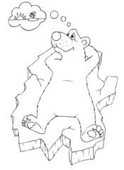 Eisbär, Eisscholle, träumen, Urlaub, Südsee