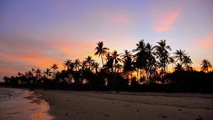 Sunset in Zanzibar. Tanzania