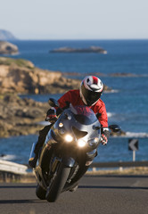 Papier Peint - biker in sardinia