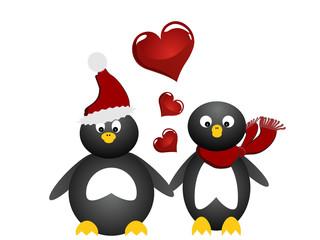 Freundschaft/ Liebe - kleine Pinguine
