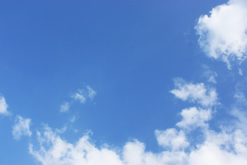 Blue sky and clouds wit some space for note