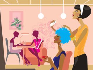 women in a beauty salon