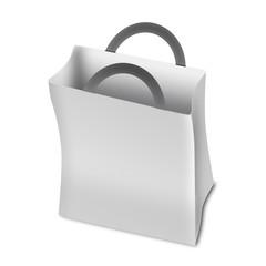 white shopping bag, free for text