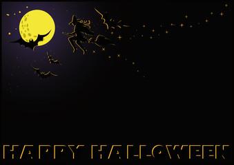 Halloween black card, vector