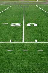 Twenty Yard Line on American Football Field