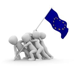 europäische fahne hissen