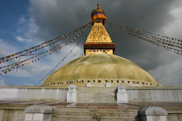 Boudhanath in gold