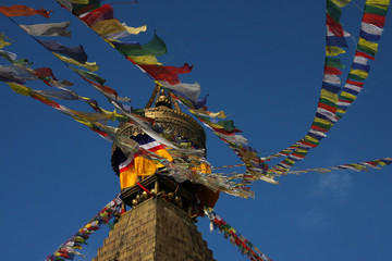 Stupa and flags
