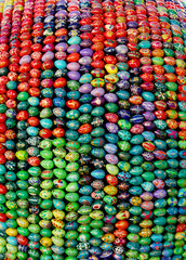 Many color bright eggs