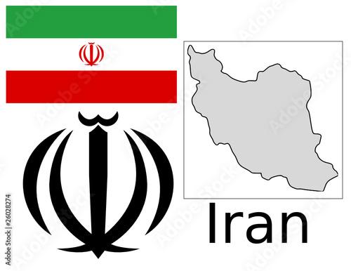 Iran Flag National Emblem Map Stock Image And Royalty Free Vector