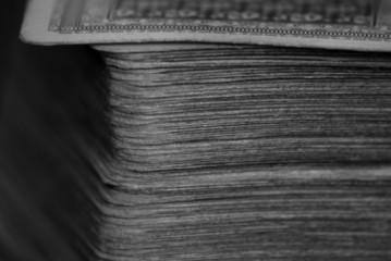 Fototapeta Talia kart black & white obraz