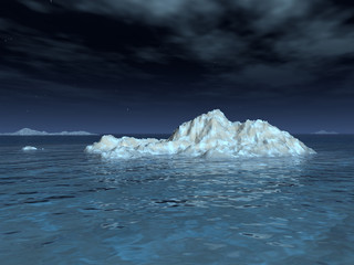 Iceberg in Moonlight